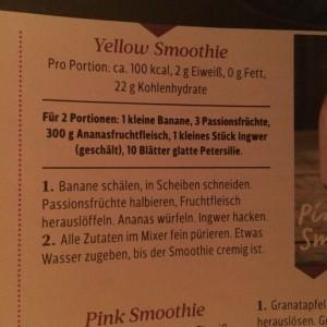 """Rezept """"Yellow Smoothie"""" aus Zeitschrift"""